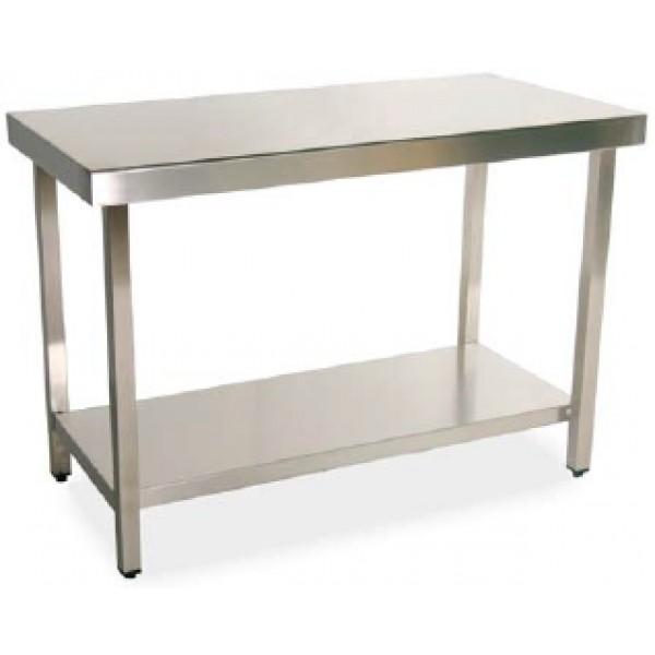 mesa de acero inoxidable ancho 600